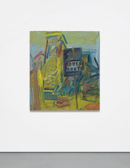 Frank Auerbach-Tower Blocks Hampstead Road-2007