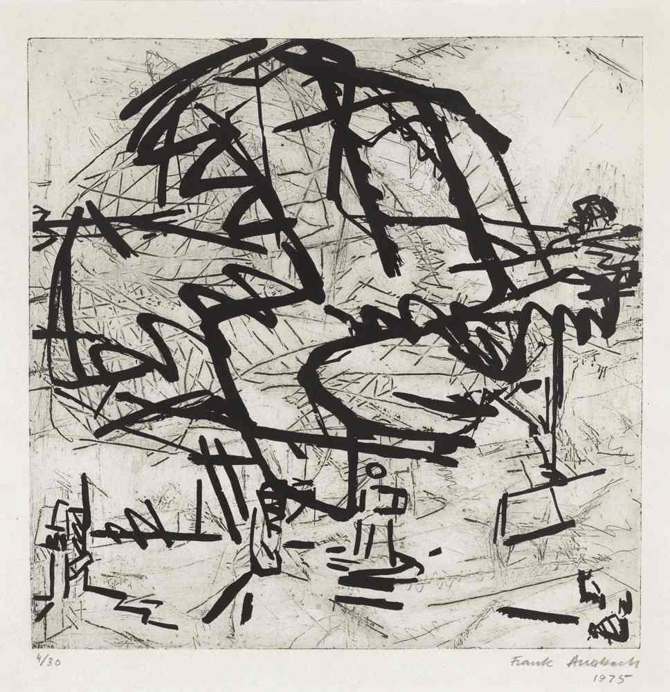 Frank Auerbach-Trees At Tretire I-1975