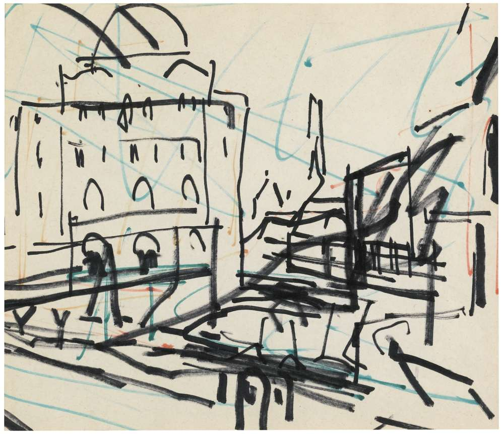 Frank Auerbach-Untitled (Study For Mornington Crescent)-