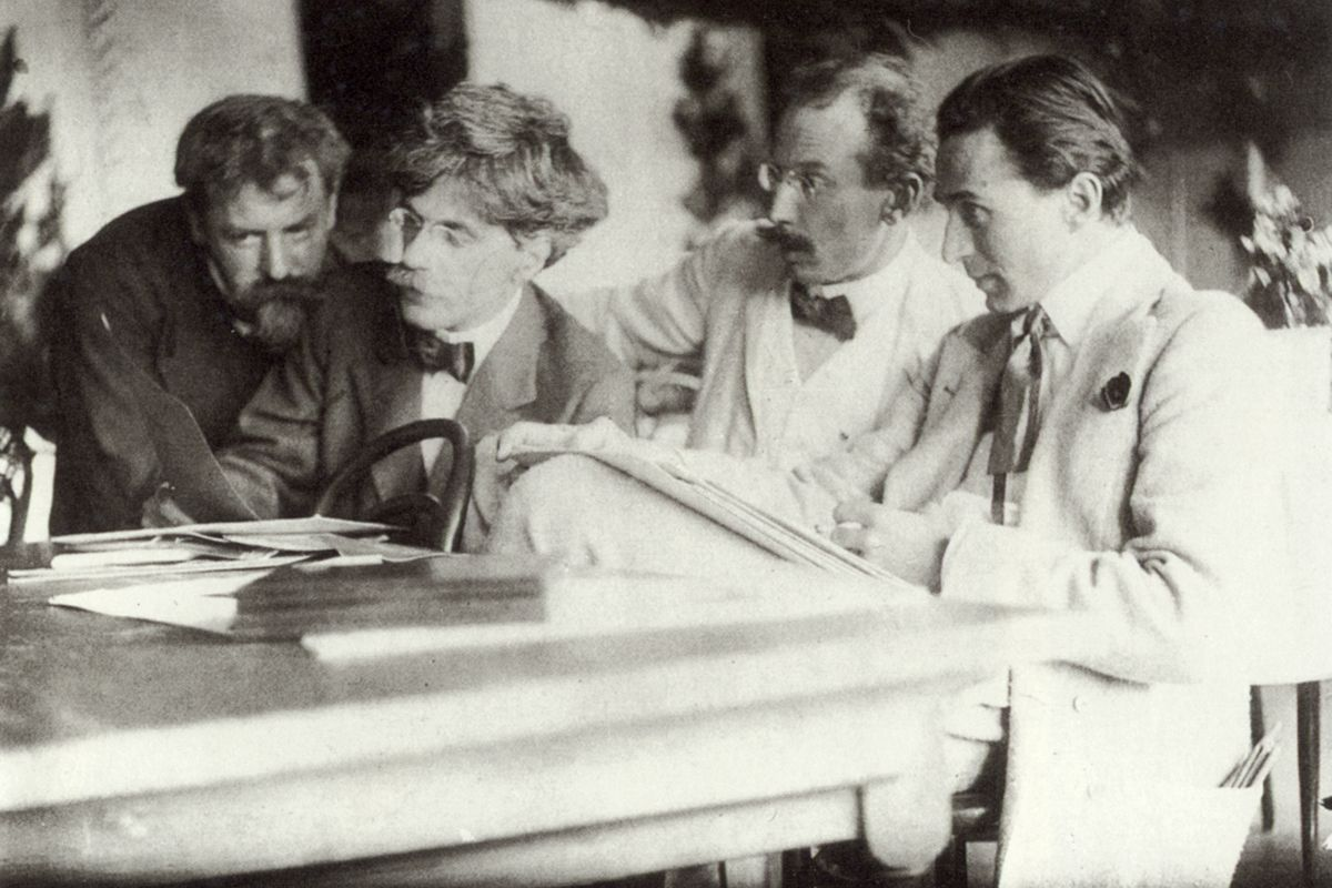 Frank Eugene - Eugene, Stieglitz, Kühn and Steichen Admiring the Work of Eugene, 1907