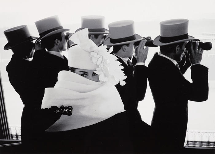 Frank Horvat-Givenchy Hat C, Paris-1958