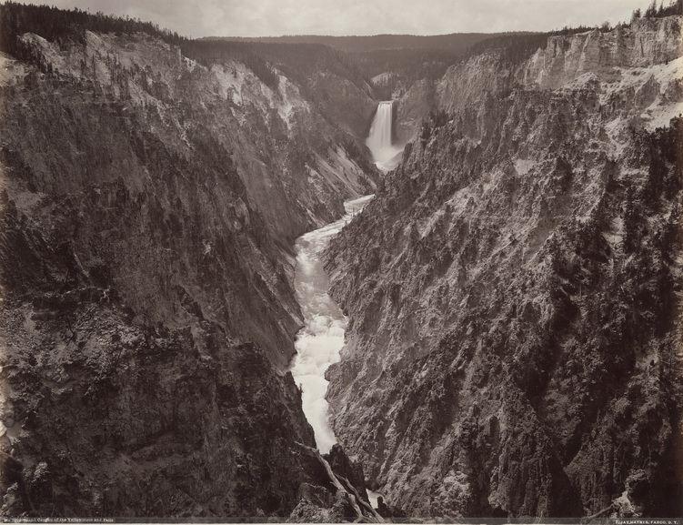 Frank Jay Haynes - Grand Canyon of Yellowstone and Falls