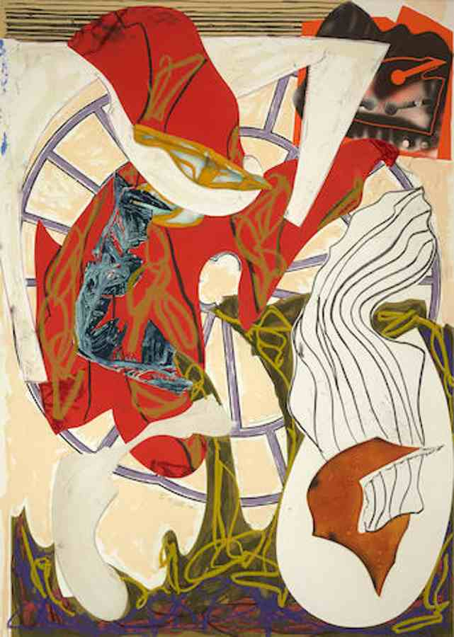 Frank Stella-A Squeeze of the Hand from Waves II series-1989