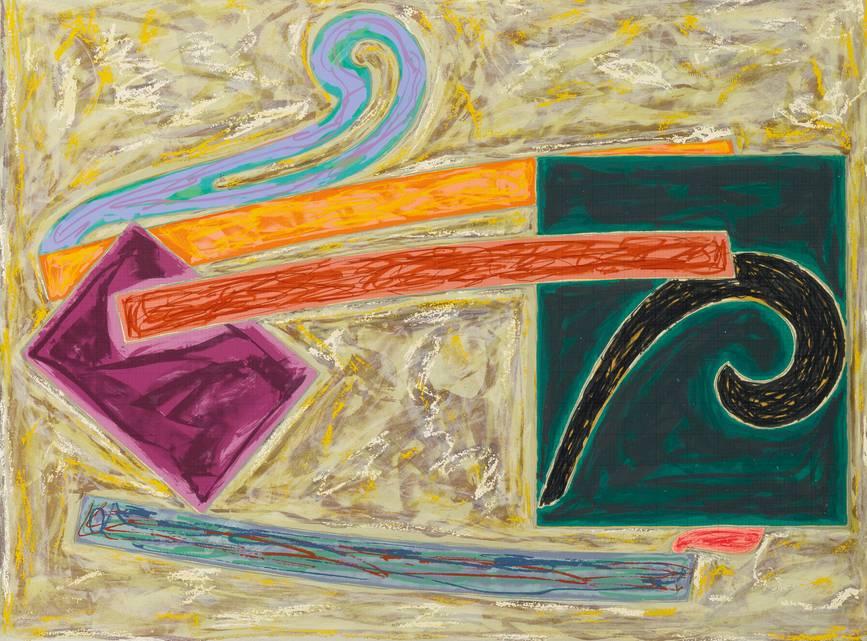 Frank Stella-Inaccessible Island Rail (Axsom 110)-1977