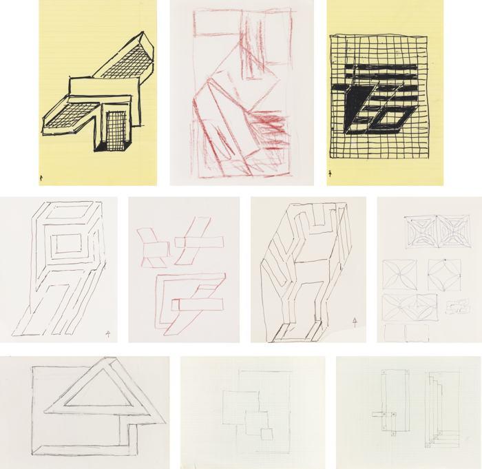 Frank Stella-Untitled (10 Drawings)-1962