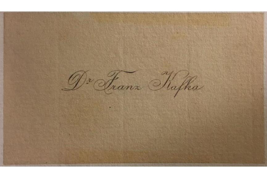 Franz Kafka's Business Card