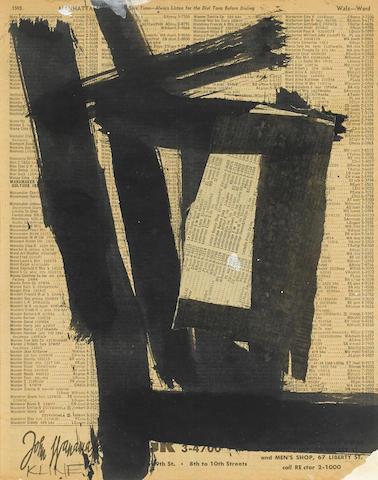 Franz Kline-Untitled-1952