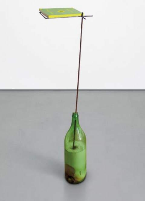 Franz West-Flasche als Bucherstander (Bottle as Bookstand, Book 'Gelegentliches')-1995