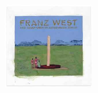 Franz West-Poster Design (Drei Skulpturen im Aussenraum Zurich)-2006