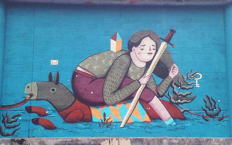 Frau Isa on Kosmopolite Art Tour in Belgium, 2015