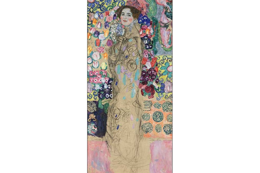 One of Gustav Klimt's most famous portraits of a woman, apart from The Kiss was Portrait of Ria Munk