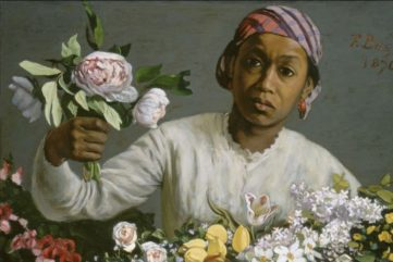 Frédéric Bazille - Young Woman with Peonies (detail), 1870