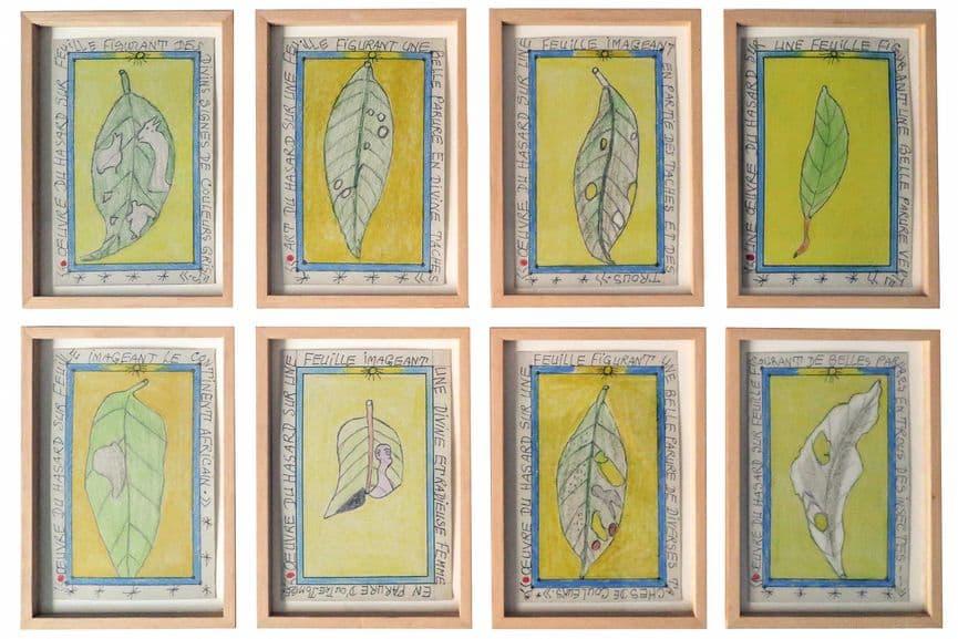 Frédéric Bruly Bouabré - Oeuvre du hasard sur feuille, 2004