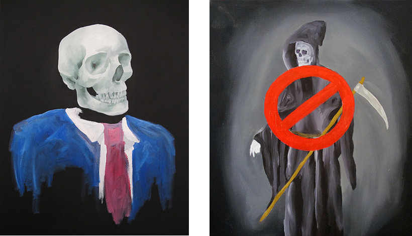 Fred Fleisher - Just Admit It, 2013 (Left) / No More Death, 2012 (Right)
