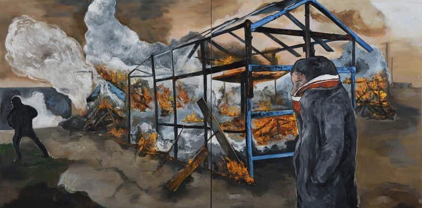 Fred Kleinberg - Le démantèlement, Calais, 2017