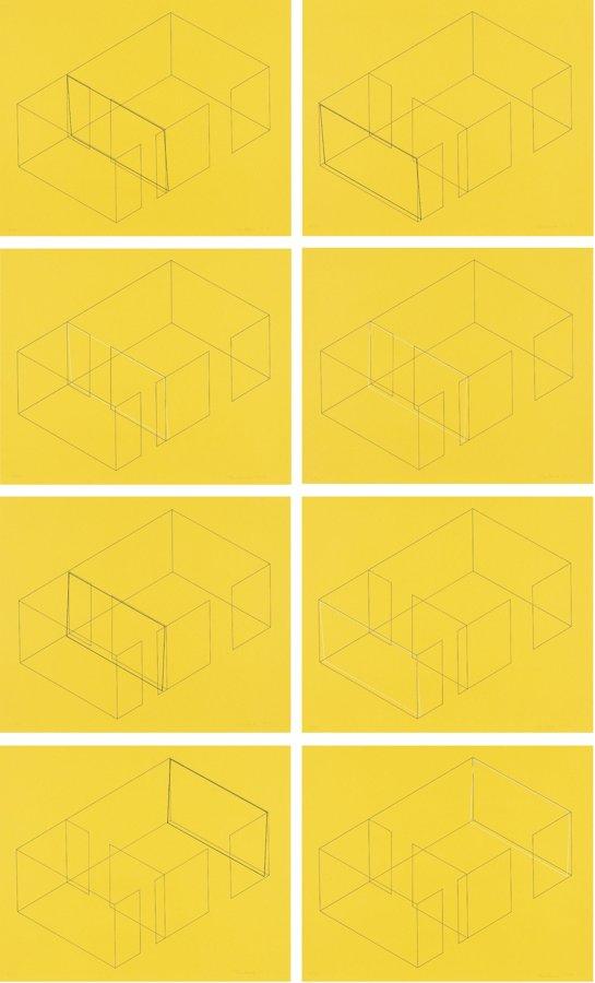 Fred Sandback-Eight Variations for Galerie Heiner Friedrich-1973