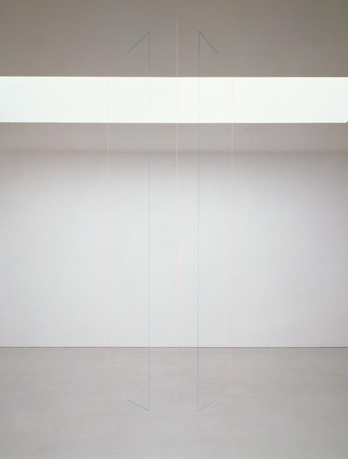 Fred Sandback-Untitled (Sculptural Study, Five-part Vertical Construction)-2006