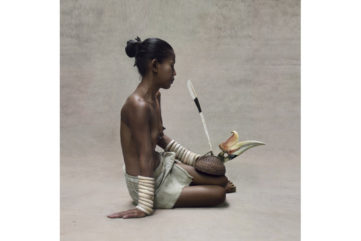 Fred Stichnoth - Young Girl with Hornbill Headdress, New Guinea
