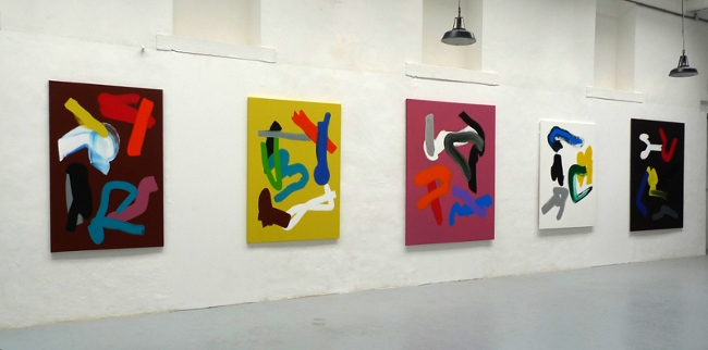 Frederic Prat - solo show at Le Carré Noir, Bonneval, France, 2012, installation view, photo credits - artist