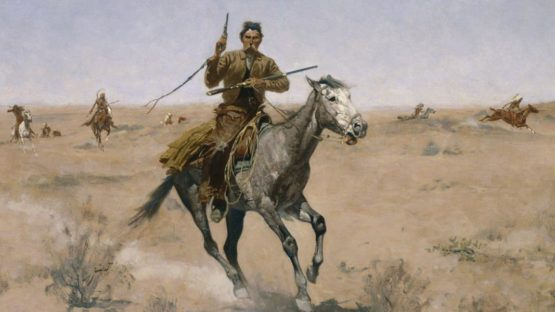 Frederic Remington - The Flight, 1895 (detail)
