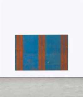 Fredrik Vaerslev-Untitled (Canopy Painting: Blue and Orange)-2012