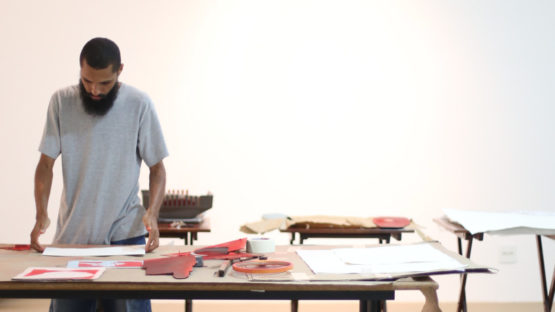 Fredone Fone in his studio, photo credit Ariny Bianchi
