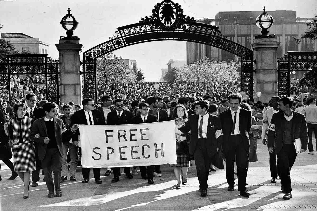The counterculture movement of the 1960s included the free speech movement as well