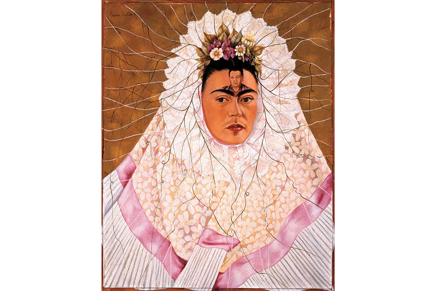 Diego on My Mind (Self-Portrait as Tehuana), 1943; one of the paintings where frida painted self