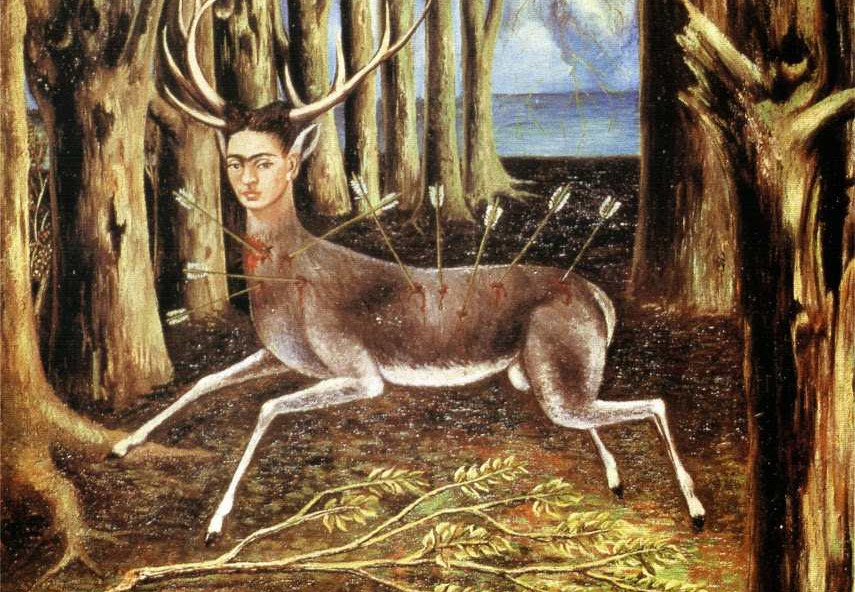 Frida kahlo's - Self-portrait as wounded deer (1946)