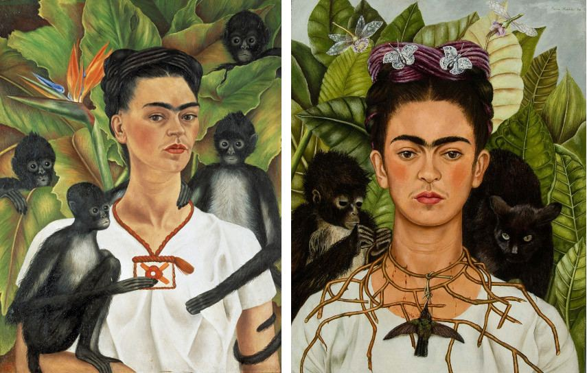 frida kahlo self portrait with thorn necklace and hummingbird essay News release — january 27, 2009 frida kahlo's self-portrait with thorn necklace and hummingbird to be displayed at ransom center beginning cinco de mayo.