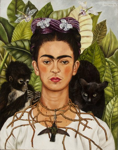 Frida Kahlo - Self-portrait with a thorn necklace