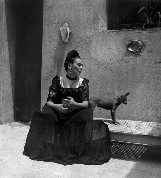 Frida Kahlo, by Lola Álvarez Bravo, ca. 1944