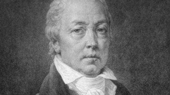 Friedrich Heinrich Fuger - Mezzotint by Vinzenz Georg Kininger after a self-portrait (c.1818) (detail)