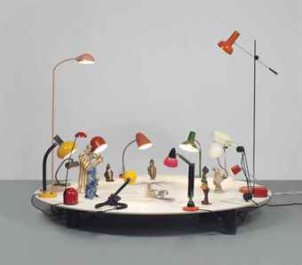 Friedrich Kunath-Untitled (Table/Lamps)-2007