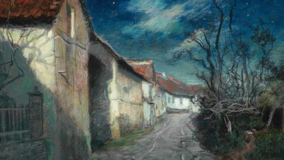 Frits Thaulow - Moonlight in Beaulieu, 1904 - Image via wikipediaorg