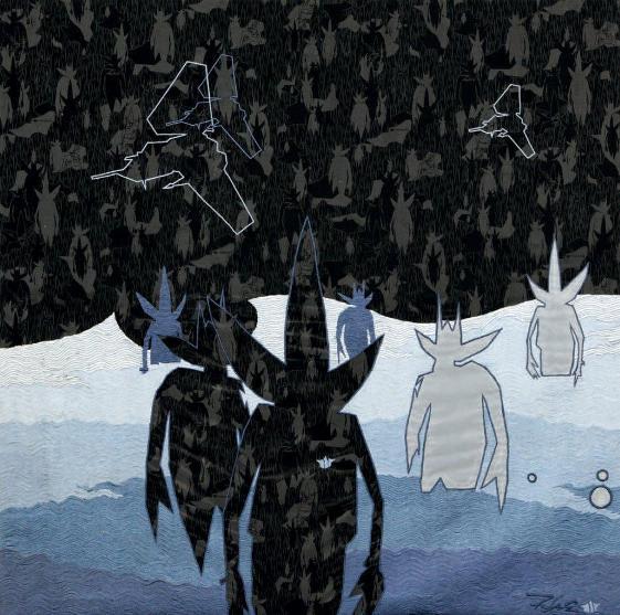 Futura - Tidal Pointman Black, 2000 (127 x 127 cm)