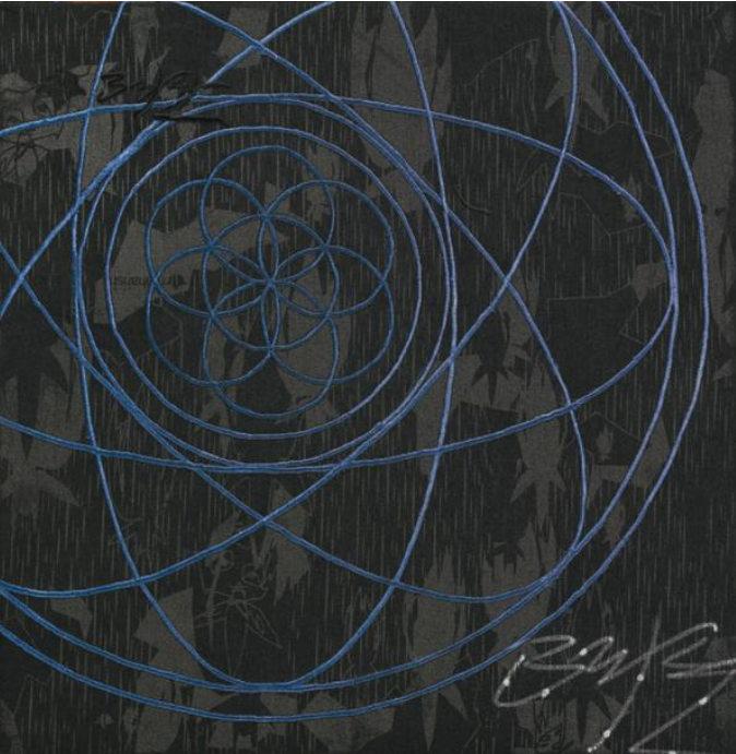 Futura-Water Series: Futura Canvas Atomic Flower of Life Spiral-2001