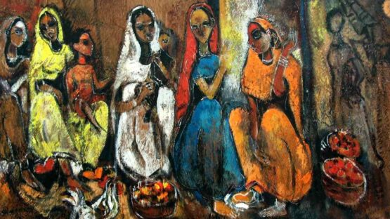 G.A. Dandekar - Bride to Be - Image courtesy of Addicted Art Gallery