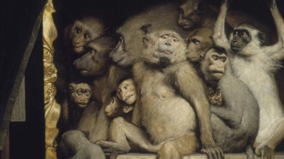 Gabriel Cornelius Von Max - Monkeys as Judges of Art (detail) - 1889