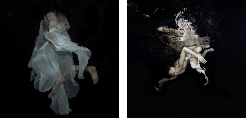 Gabriele Viertel - Storm Devotion - 2014 (Left) / Red Furie Water - 2013 (Right)
