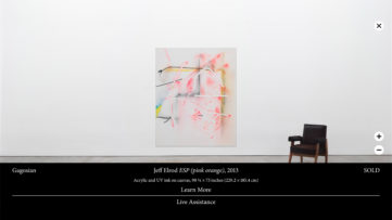 A Screenshot of Gagosian's Online Viewing Room Art Basel Hong Kong 2020