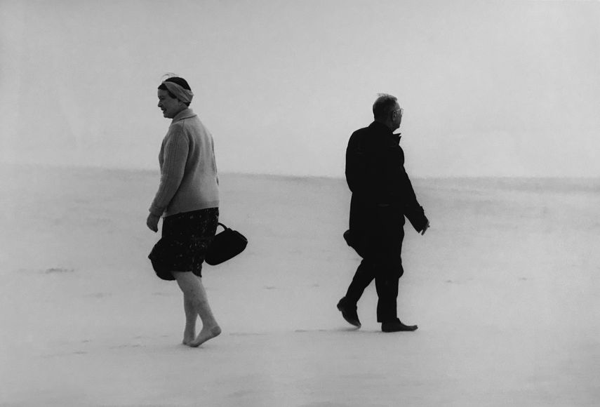 Antanas Sutkus - J. P. Satre and Simone de Beauvoire in Lithuania, 1965
