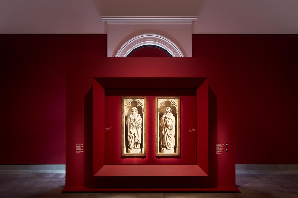 Gallery view with Hubert and Jan van Eyck, Ghent Altarpiece