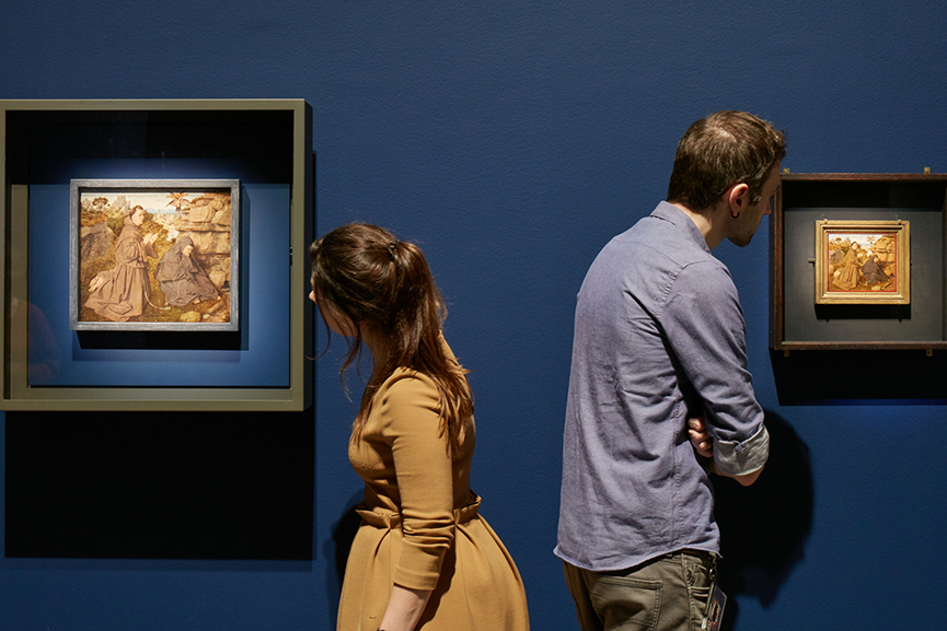 Gallery view with Jan van Eyck Saint Francis MSK Ghent
