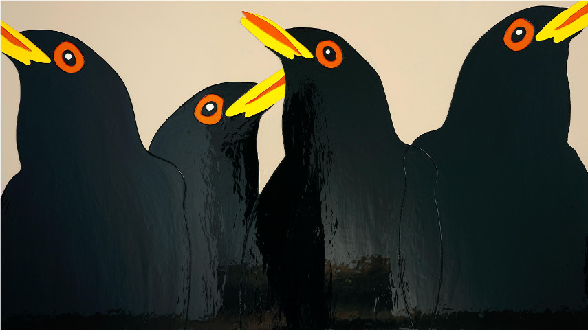 Gary Hume - Blackbirds of Art Painting, 2008