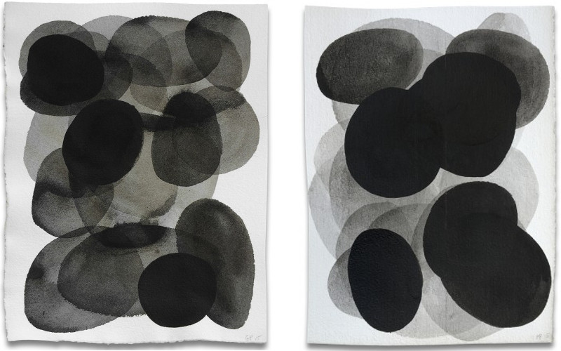 Gary Paller - #9, 2015 (Left) / #19, 2015 (Right) - paintings