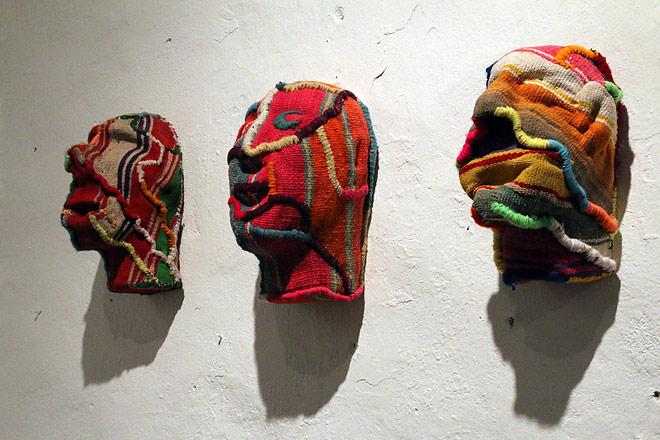Gastón Ugalde -Gastón Ugalde, Masks from the serie Chamanes, image ©  Haupt and Binder
