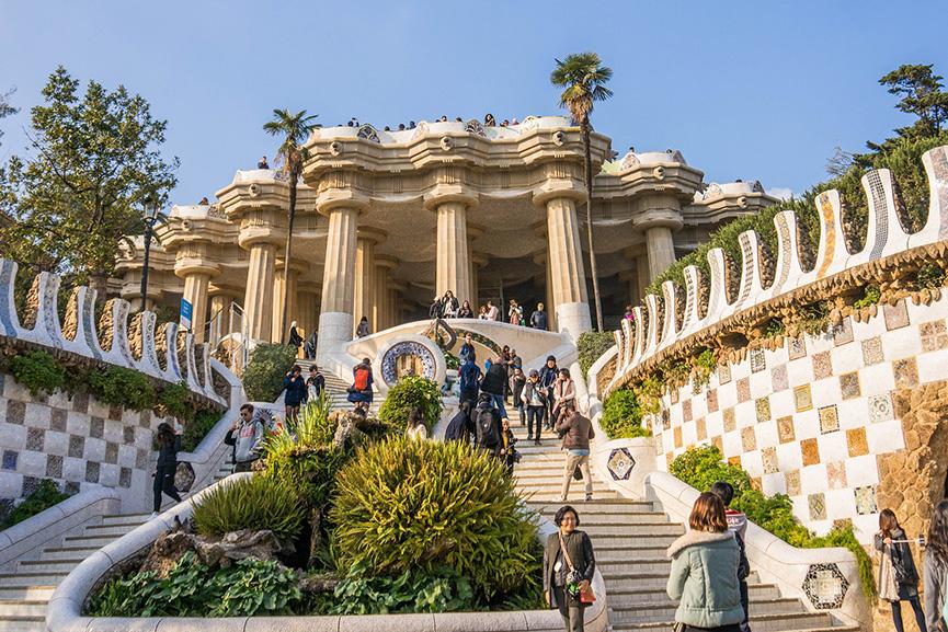 Antoni Gaudi architecture - Park Güell Barcelona, Spain