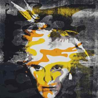 Gavin Turk-Fright Wig Camouflage Yellow And Mauve-2006