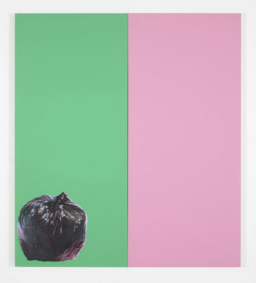 Gavin Turk - Green and Pink with Rubbish Bag